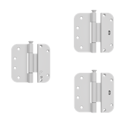 Custom Wood Inswing Patio Door Adjustable Hinge Kit - Set of 3