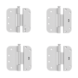 Custom Wood Inswing Patio Door Adjustable Hinge Kit - Set of 4