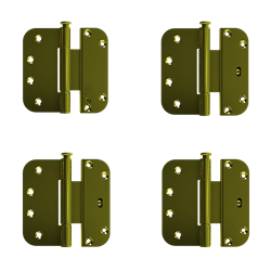 Custom Wood Inswing Patio Door Adjustable Hinge Kit - Set of 4-Luxury